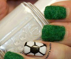 nails, football, and nail art image
