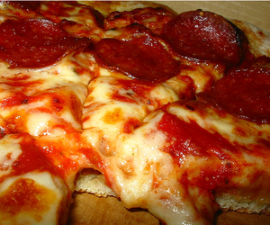 pizza, food, and pepperoni image