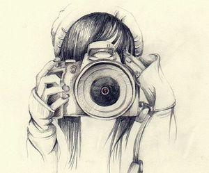 drawing, camera, and art image