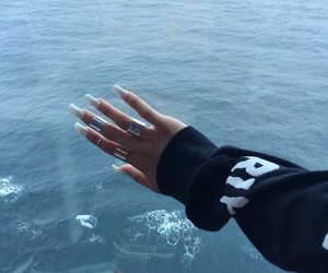 nails, sea, and white image