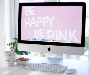 pink, apple, and mac image