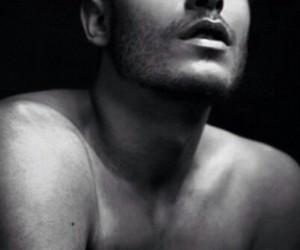 toni mahfud, black and white, and Hot image