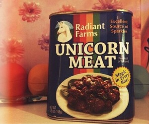 unicorn, meat, and funny image