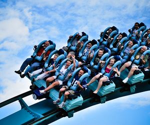 Roller Coaster, fun, and sky image