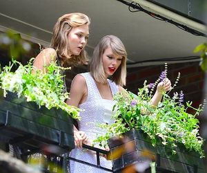 Taylor Swift, Karlie Kloss, and flowers image