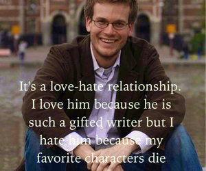 john green, looking for alaska, and love hate image