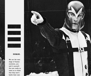 black and white, erik, and magneto image