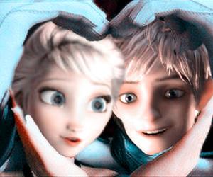 jack frost, jelsa, and elsa frozen image