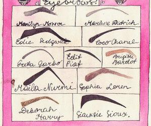 eyebrows, Marilyn Monroe, and coco chanel image