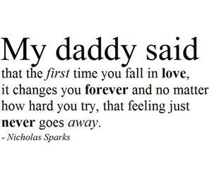 love, quote, and daddy image