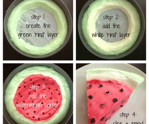 cake, diy, and watermelon image