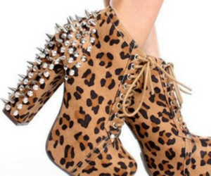 boots, spikes, and cheetah image