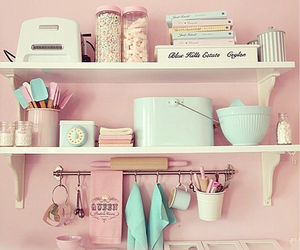 colorfull, kitchen, and vintage image