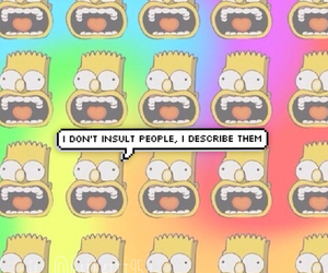 funny, insult, and bart image