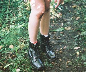 boots, vintage, and legs image