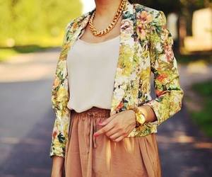 blazer, fashion, and floral image