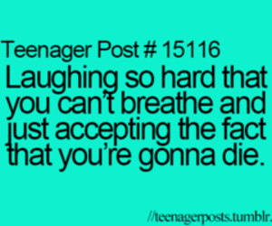 true, laugh, and die image