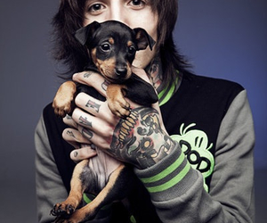 oliver sykes, bmth, and dog image