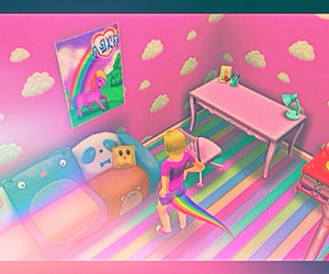 colorful, pink, and sims image