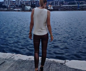girl, outfit, and sea image
