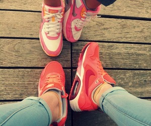 nike, pink, and red image