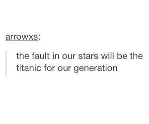 the fault in our stars, titanic, and tfios image