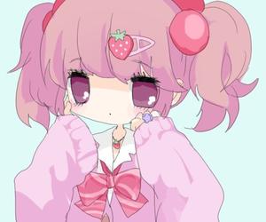 kawaii, pink hair, and soft pink image
