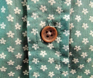 flowers, vintage, and button image