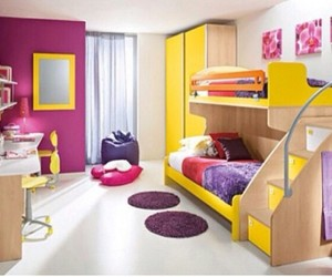 room, bedroom, and yellow image