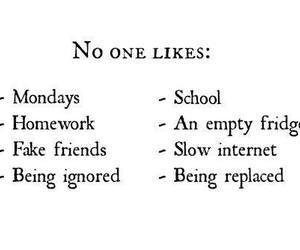 school, homework, and monday image