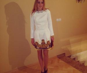 dress, whitedress, and cocogirl image