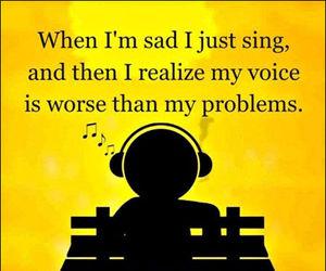 funny, sad, and sing image