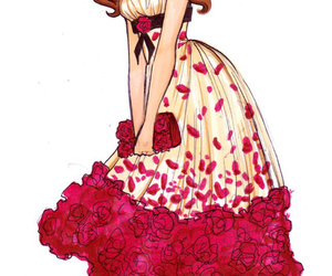 art, belle, and dress image