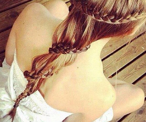 braid, girl, and lovely image