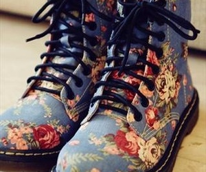boots and floral image