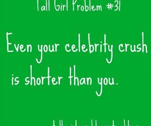 tall girls and tall girls problems image