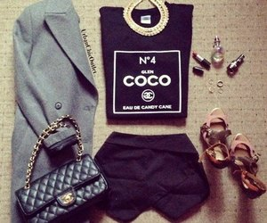 style, outfit, and chanel image