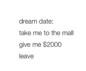 date, Dream, and mall image