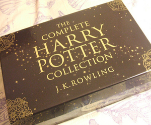 deathly hallows, j.k. rowling, and harry potter image
