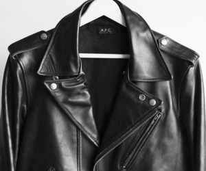 fashion, black, and leather image