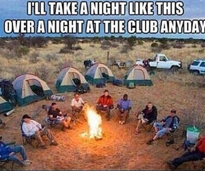camping, friends, and club image