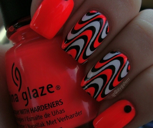 black, nails, and neon image