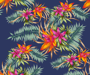 floral, flowers, and tropical image
