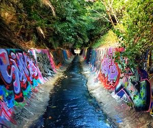 graffiti, art, and water image