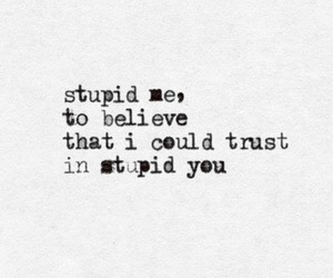 trust, stupid, and quote image