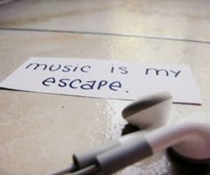 music, escape, and quote image