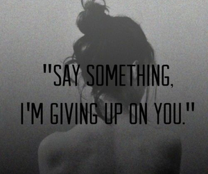 giving up