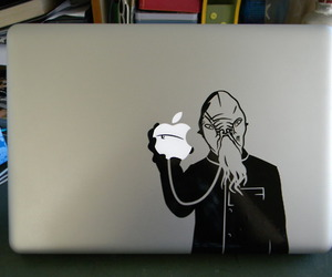 apple, doctor who, and laptop image