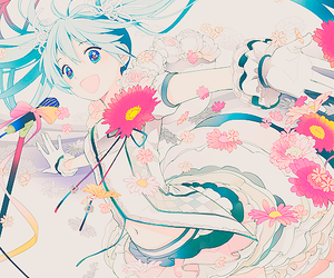 anime, flowers, and vocaloid image