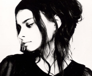 black and white, girl, and Hope Sandoval image
